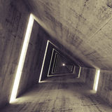 Abstract empty dark concrete interior. 3d render of tunnel Stock Photos