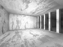 Abstract empty dark concrete room. Architecture Background Stock Photos
