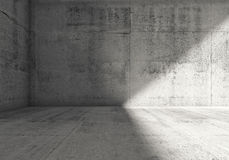 Abstract empty dark concrete room 3d interior Royalty Free Stock Photos