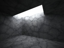 Abstract empty dark concrete room interior background Royalty Free Stock Photos