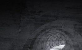 Abstract empty dark concrete tunnel. 3d. Render illustration vector illustration