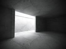 Abstract empty dark room interior with concrete walls. Architect. Ure background. 3d render illustration Royalty Free Stock Photos