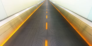 Abstract empty escalator royalty free stock photo