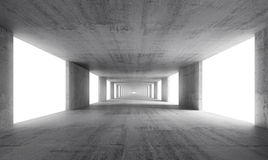 Abstract empty gray concrete interior background. 3d render Royalty Free Stock Photo