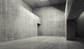 Abstract empty gray concrete room interior. Background, walls and door hole, 3d render illustration vector illustration