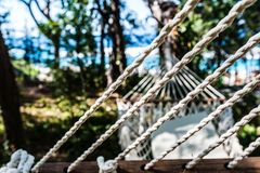 Abstract : Empty hammock at the beach Stock Image