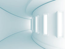 Abstract Empty Illuminated Corridor Interior Architecture Backgr. Ound. 3d Render Illustration Royalty Free Stock Image