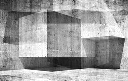 Abstract empty interior background 3d art Stock Photos