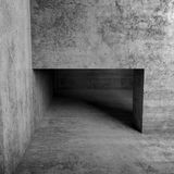 Abstract empty interior, doorway in concrete wall. Square 3d illustration Royalty Free Stock Image
