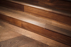 Abstract empty interior fragment, wooden stairs Stock Photo
