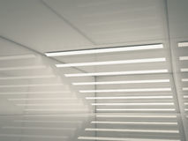 Abstract empty interior, lights stripes 3d Stock Image