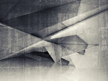 Abstract empty interior with polygonal structure Royalty Free Stock Photos