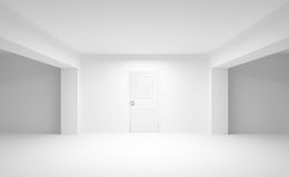 Abstract empty interior with white door Stock Photos