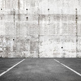 Abstract empty parking interior background with road marking Stock Image