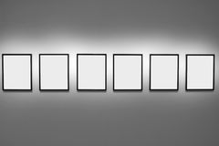 Abstract of empty picture frames Royalty Free Stock Image