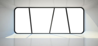 Abstract empty room with big window. 3D rendering Royalty Free Stock Images