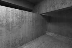 Abstract empty room concrete interior Stock Photography