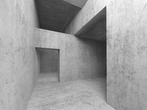 Abstract empty room concrete interior Royalty Free Stock Photo