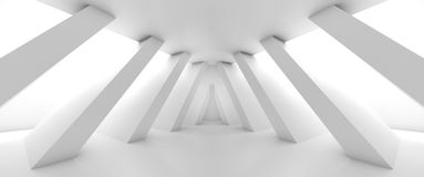 Abstract empty room with diagonal columns 3 d Royalty Free Stock Photos