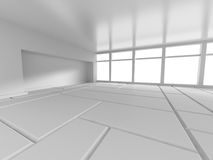 Abstract Empty Room Interior Background. 3d Render Illustration Stock Image