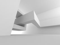 Abstract Empty Room. Modern Design Interior Background. 3d Render Illustration Royalty Free Stock Photography