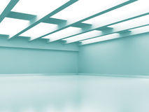 Abstract Empty Room Modern Interior Background. 3d Render Illustration Stock Image