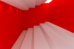 Abstract empty room red wall. Royalty Free Stock Image