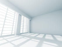 Abstract Empty Room White Design Interior Stock Photos