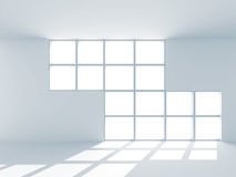 Abstract Empty Room With Window. 3d Render Illustration Stock Photos