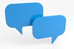 Abstract empty speech bubble. Royalty Free Stock Image