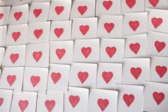 Abstract empty sticky note with heart. Valentine greeting card message. royalty free stock image