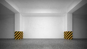 Abstract empty underground parking Stock Images