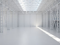 Abstract Empty Warehouse Interior Royalty Free Stock Photos
