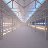 Abstract Empty Warehouse Interior Royalty Free Stock Image