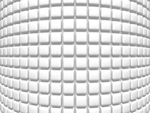Abstract Empty White Cubes Wall Background. 3d Render Illustration Royalty Free Stock Images