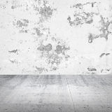 Abstract empty white interior with concrete wall Stock Photography