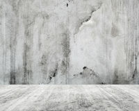 Abstract empty white interior, concrete wall. And floor background Stock Photo
