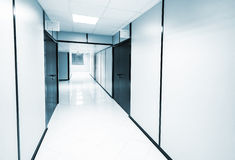 Abstract empty white office interior Stock Photo