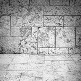 Abstract empty white room interior with stone tiling Royalty Free Stock Photos