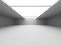 Abstract empty white room interior. Urban architecture backgroun Royalty Free Stock Photo