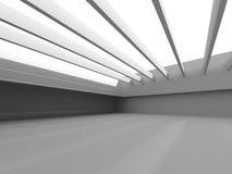 Abstract empty white room interior. Urban architecture backgroun Stock Photo