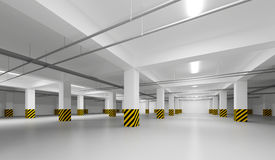 Abstract empty white underground parking Royalty Free Stock Photography