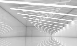 Abstract empty wide white hall interior Stock Image