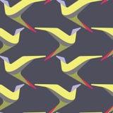 Abstract en eigentijds het patroonontwerp van de vogels naadloos oppervlakte Royalty-vrije Stock Afbeeldingen