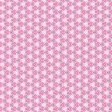 Abstract en kanten patroon, op het roze Stock Afbeelding