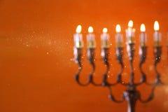 abstract en onscherp beeld van Joodse vakantiechanoeka Royalty-vrije Stock Foto's
