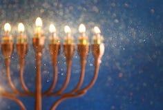 abstract en onscherp beeld van Joodse vakantiechanoeka Stock Foto