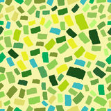 Abstract endless geometrical background. Spring, eco colors. Mosaic or inlay seamless  pattern. Shades of green. Tiny polygo Royalty Free Stock Images
