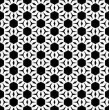 Abstract endless texture, black & white geometric figures. Vector monochrome seamless pattern, repeat ornamental background, black & white geometric figures Stock Illustration