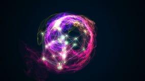Abstract energy ball rotating on black background 3d illustration. Energy ball rotating on black background 3d illustration Stock Images